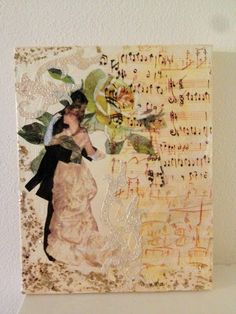Walzer Decoupage, Vintage World Maps, Painting, Dancing, Painting Art, Paintings, Painted Canvas