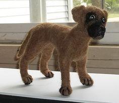 Felted Great Dane Puppy by KathysCraftShop on Etsy