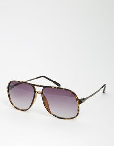 Sunglasses by ASOS Lightweight frames Moulded nose pads for added comfort Gradient tinted lenses Slim arms with curved temple tips for a secure fit Total UV protection