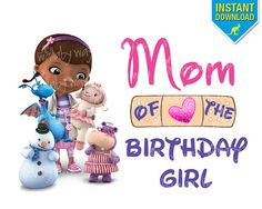 Doc McStuffins Birthday MOM of Birthday Girl by TheWallabyWay