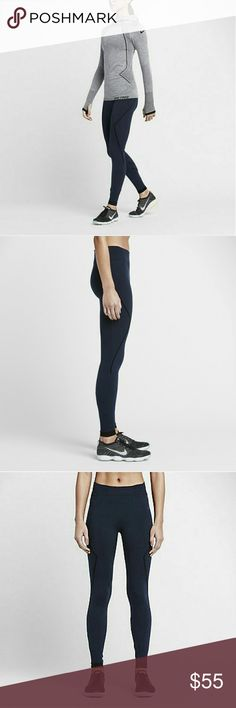 NEW Nike Pro Hyperwarm Limitless Women's Tights SEAMLESS WARMTH FOR COLDER WEATHER The tights feature stretchy waffle-knit fabric that holds heat in and wicks away sweat to help keep you warm and dry during cold-weather workouts.  Dri-FIT fabric helps keep you dry and comfortable Seamlessly knit fabric provides warmth and breathability Fitted design hugs your body from hip to hem Flat seams move smoothly against your skin Elastic rib waist and hem for a snug, comfortable fit Perforated back…