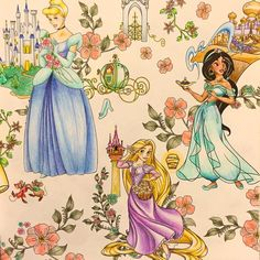 ✏︎✏︎✏︎2016.5.5.tue . . 見開き右。 プリンセスは塗ってて楽しいー❤️ . . #大人の塗り絵 #ぬりえ #ぬり絵 #塗り絵 #coloringbook #coloring #コロリアージュ #クーピー #パステル #色鉛筆 #disney #ディズニー#ディズニープリンセス #ディズニーガールズ #ディズニーガールズカラーリングブック #塗り絵の記録 #自己満 . . .