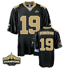 3649d540f Saints  19 Devery Henderson Black Super Bowl XLIV 44 Champions Stitched NFL  Jersey Pittsburgh Steelers
