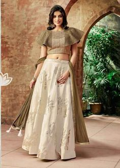 Buy Off White Silk Embroidered Designer Lehenga Choli Online Saree Blouse Neck Designs, Choli Designs, Fancy Blouse Designs, Lehenga Designs, Lehnga Dress, Lehenga Blouse, Silk Lehenga, Plain Lehenga, Ghagra Choli