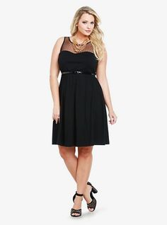 53eb975fec9 Swiss Dotted Mesh Yoke Dress