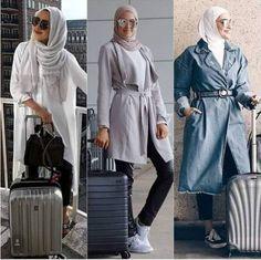 What to wear as a hijabi traveler – Just Trendy Girls Muslim Fashion, Modest Fashion, Hijab Fashion, Fashion Outfits, Casual Outfits, Women's Fashion, Hijab Trends, Hijab Chic, Stylish Hijab