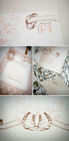 Equestrian Wedding invitations