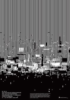 """ingmar spiller - typo/graphic posters """"Lines and grid system. Glitch?"""""""