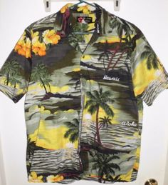Men's 48-Inch Chest Ali'i Fashions Hawaii Shirt Aloha Sunset Button-Up Shirt in Clothing, Shoes & Accessories, Men's Clothing, Dress Shirts | eBay