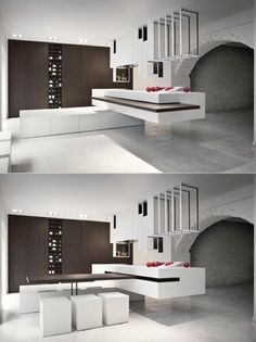 This Clever Kitchen Design, U0027The Cutu0027, Has Units That Can Be Reconfigured  Into Different Setups, Including A Slide Away Table That Can Be Concealed  In An ...