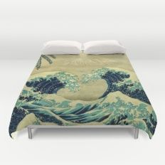 The Great Blue Embrace at Yama Duvet Cover