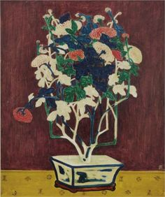Potted Chrysanthemums - Sanyu
