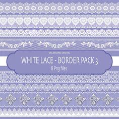 Lace border clip art Digital clipart Digital by ValerianeDigital