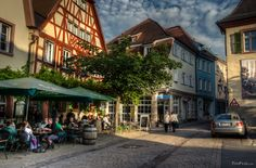 Weinheim at sunset How To Take Photos, Small Towns, Street View, Architecture, City, Fresco, Image, Arquitetura, Fresh