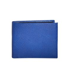 My wallet obsessed boyfriend would love this, and we get out of the house FASTER due to it's beautiful color which POPS! - Indigo Bi-Fold Wallet - Goatskin Leather
