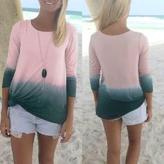 ⚽️CLEARANCE BOGO⚽️ Ombré Pink/Grey Tunic Top! NEW! Soft top in muted hues. Measures 19 inches from armpit to armpit. 27 inches in length. Model is a size 8 medium 64 inches tall. NWOT only worn to model. Boutique Tops Tees - Long Sleeve
