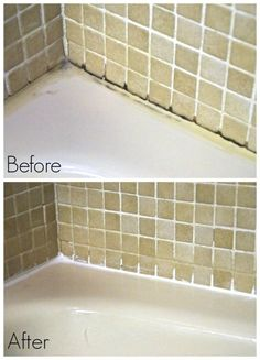 caulking before after