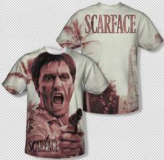 02057039 Scarface Al Pacino Tony Montana War Cry Photo All Over Print Youth T-shirt  Top