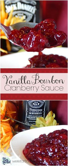 This homemade cranberry sauce will be a hit at your holiday table!! Rich flavor, a little tart and a little sweet! It's super easy to make too!
