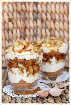 """Dulce de Leche: Apple-peanut """"cups"""" with mascarpone"""
