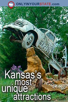 Travel | Kansas | USA | Attractions | Places To Visit | Day Trips | Things To Do | Bucket List | Unique Places | Road Trips | Staycation | Explore | Adventure | Beautiful Places | Gardens | Natural Wonders | Garden of Eden | Largest Ball of Twine | Land of Oz | Wizard of Oz | Castles | Rock City | Truckhenge