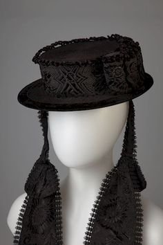 Woman's hat, South Tyrolean, Italy, c. 1890's.