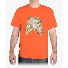 Floral Ribs Unicorn - Mens T-Shirt