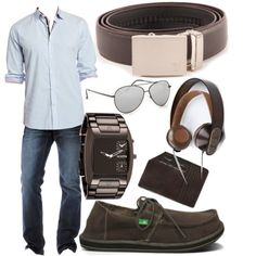 Chrome Mission Belt by kristinmadsen on Polyvore. #fathersday #belts #mensfashion