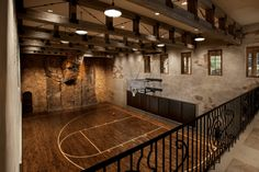 Hardwood Suite at Palms, see the half basketball court in the ...