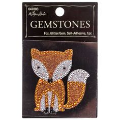 Fox Glitter Gemstone