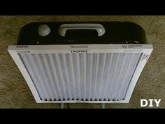 DIY Air Filtration System! - Homemade Air Purifier - Simple box fan conversion! - very eff - YouTube