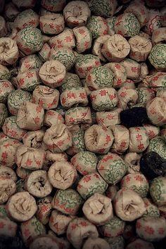 wrapped cakes of pu'er tea | dayan, yunnan, china