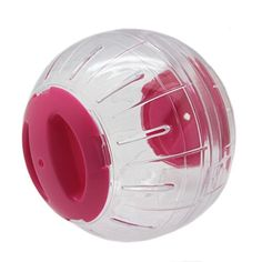 Clear ball provides interactive fun for you and your pet. Ideal for hamster, mouse and other small furry animals. Made with pet safe materials. Easy to clean and resistant to odors.