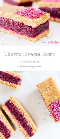 Cherry Dream Bars #raw #vegan