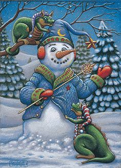 Christmas by Randal Spangler Dragon Hatchling Egg Baby Babies Cute Funny Humor Fantasy Myth Mythical Mystical Legend Dragons Wings Sword Sorcery Magic Art Fairy Maiden Whimsy Dragon Cat, Baby Dragon, Cartoon Dragon, Christmas Dragon, Christmas Art, Xmas, Magical Creatures, Fantasy Creatures, Frosty The Snowmen