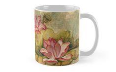 "Mug -  ""The Lotus Family"" by Anna Ewa Miarczynska"