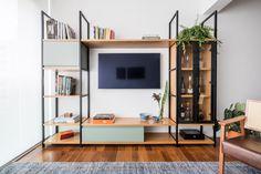 70 veces he visto estas bonitas muebles minimalistas. Living Room Tv, Apartment Living, Home And Living, Iron Furniture, Furniture Design, Muebles Rack Tv, Home Office Design, House Design, Muebles Living
