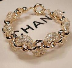 Beautiful Chanel Gold Diamond Bracelet #jewelrybracelets