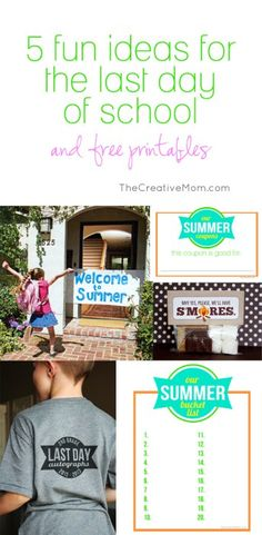 5 fun ideas for the last day of school - The Creative Mom