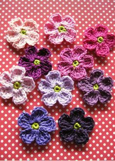 Crochet Flower Headbands, Crochet Flowers, Crochet Shawl, Free Crochet, Crochet For Beginners, Crochet Animals, Applique, Blanket, Knitting