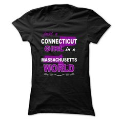 Just A Connecticut Girl Nº In A Massachusetts WorldAre you A Connecticut Girl lived in Massachusetts state? This special designed one for you. Comes in multiple color and style options, so get one.mass-tee