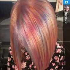 #Repost @hartsup #ColorMaskPaint-taidonnäytettä kiertueelta  #hiustrendit #kevät2015・・・Rainbow dash #olaplexfinland #kcprofessional #rainbowdash