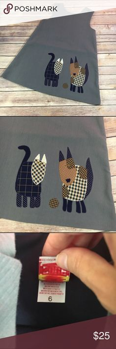 Chocolate Soup Gray Cat Jumper Cats Applique 6 Chocolate Soup Gray Cat Jumper Cats Applique 6  Super cute and fun applique jumper from Chocolate Soup.  Textured material.  Jumper is lined.  Very good used condition.  #gray #cats #cat #applique #jumper #fall #itsfallyall #chocolatesoup Chocolate Soup Dresses Casual