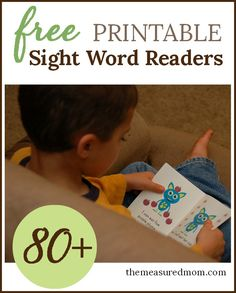 Looking for books for your beginning reader?  Print these free emergent readers! This is a huge collection of sight words books.