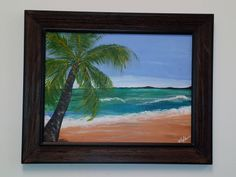Acrylic painting - Grace's Palm Tree - www.harrisartstudio.com