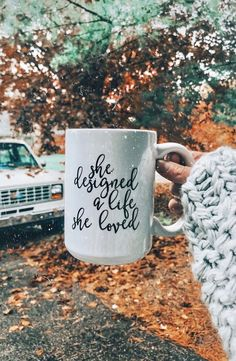 Loving all the fall vibes! She designed a life she loved is my quote! I love these words.