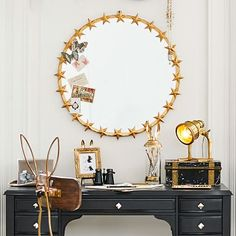 Emily + Meritt Star Ring Mirror #pbteen Stars also can be for boys ..think 4Star Generals and the military,,,
