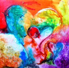Beautiful heart painting