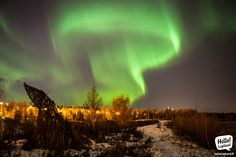 Northern Lights in Rovaniemi, Lapland, Finland 11th November 2013.