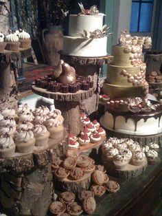 dessert table... I BELIEVE IT SHOULD BE THIS WAY.... represents the SWEET life you are witnessing the beginning of :)